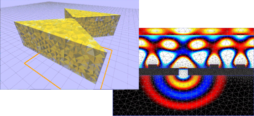 3D Mesh and Light harvester simulation
