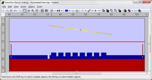 Fibre to Chip Grating Coupler - FDTD simulation with OmniSim software