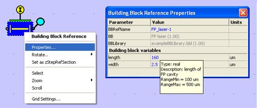 Setting the Building Blocks variables